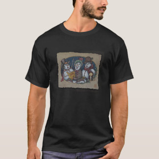 Snowmen Christmas Carolers T-Shirt