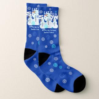 Snowmen Ugly Christmas Pattern Socks 1
