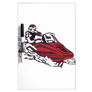 Snowmobile Dry Erase Whiteboard