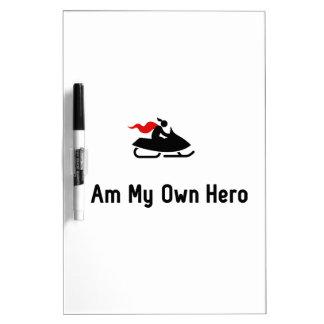 Snowmobile Hero Dry Erase Board