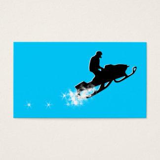 snowmobile : powder trail business card