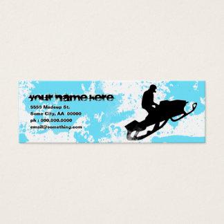 snowmobile : powder trail : mini business card