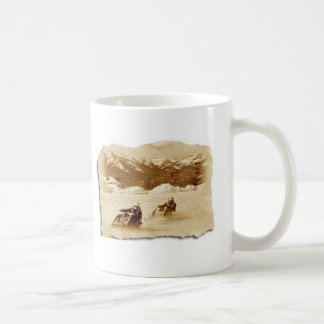 snowmobile race coffee mug