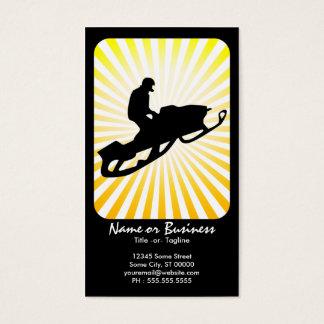 snowmobile : retro rays : business card
