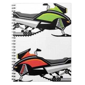 Snowmobile Spiral Notebooks