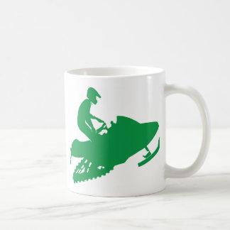 Snowmobiler/Green Sled Coffee Mug