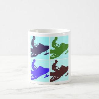 Snowmobiler/Pop Art Coffee Mug