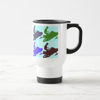 Snowmobiler/Pop Art Travel Mug