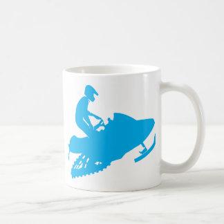 Snowmobiling Blue Sled Coffee Mug