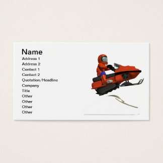 Snowmobiling Jump 2 Business Card