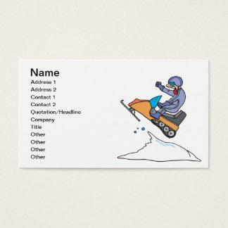 Snowmobiling Jump Business Card