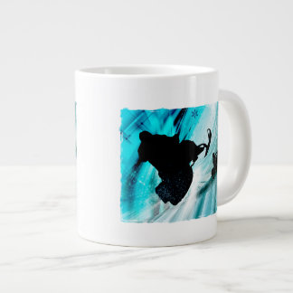 Snowmobiling on Icy Trails Large Coffee Mug