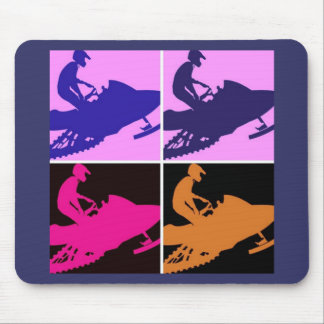 Snowmobiling Pop Art Mouse Pad