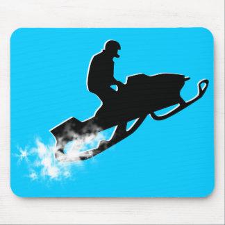 snowmobiling powder trail mouse pad
