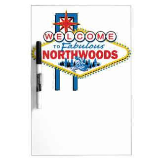 Snowmobiling/Welcome to the Fabulous Northwoods Dry-Erase Whiteboard