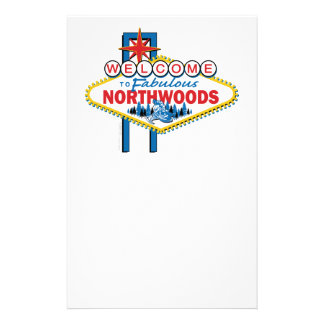 Snowmobiling/Welcome to the Fabulous Northwoods Personalized Stationery