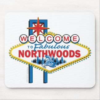 Snowmobiling/Welcome to the Northwoods Mouse Pad