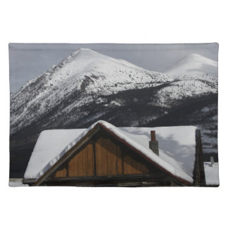 Snowy Cabin Placemat