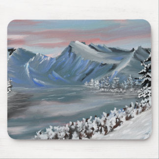 snowy field card mouse pad