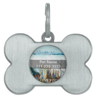 Snowy Landscape with Arles in the Background Pet ID Tag