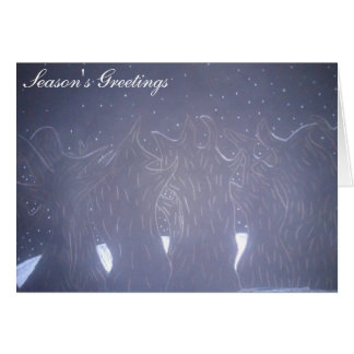 """Snowy Night in Woods"" Seasons Greeting Card"