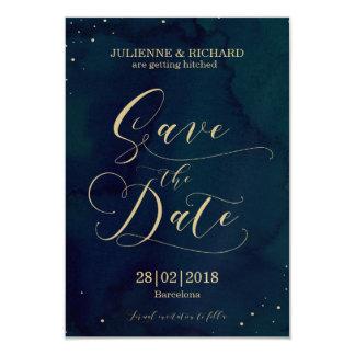 Snowy Night Winter Wedding Confetti Save the Date Card