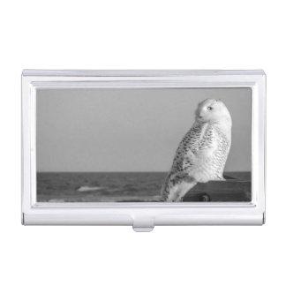Snowy Owl Business Card Holder