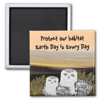 Snowy Owls Habitat Magnet