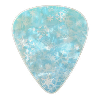 Snowy Pearl Celluloid Guitar Pick
