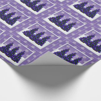 Snowy Purple Christmas Wrapping Paper