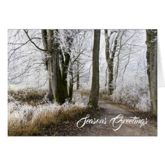 Snowy Tree Seasons Greetings Card