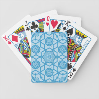 Snowy winter ornamental bicycle playing cards