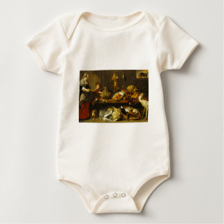 Snyders - Kitchen Still Life with a Maid and a You Baby Bodysuit