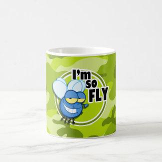 So Fly!  bright green camo, camouflage Mug