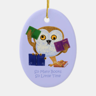 So Many Books So Little Time Christmas Ornament