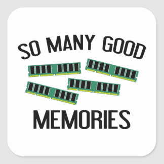 So Many Good Memories Square Sticker