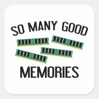 So Many Good Memories Square Sticker