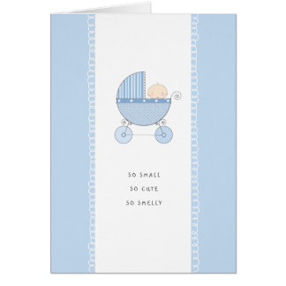So Small, So Cute New Baby Congrats | Blue Boy Card