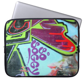 """ so soggy"" graffiti laptop case"