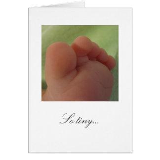 So tiny...New Baby Card