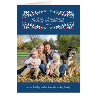 So very merry holiday photo card_Navy Card
