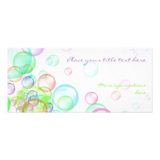 Soap Bubbles Custom Rack Cards