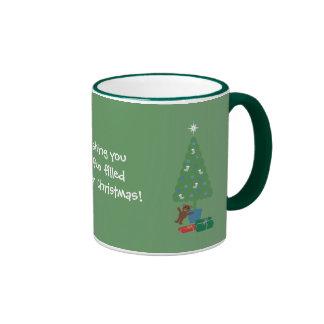 Sobriety Mug With Cute & Funny Cat & Xmas Tree