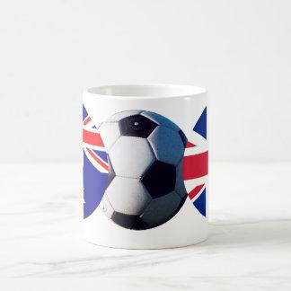 Soccer Ball Australia & UK Flag The MUSEUM Zazzle Coffee Mug