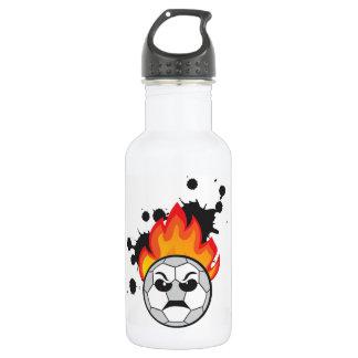 Soccer ball bad mood 532 ml water bottle