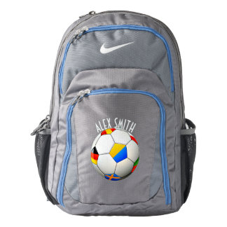 Soccer Ball Football W/Flags Personalised Backpack