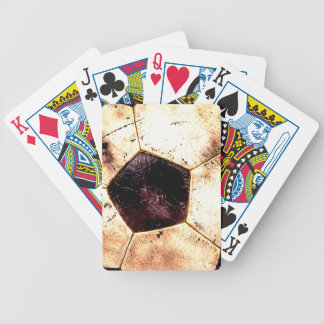 Soccer Ball Grunge Style Bicycle Playing Cards