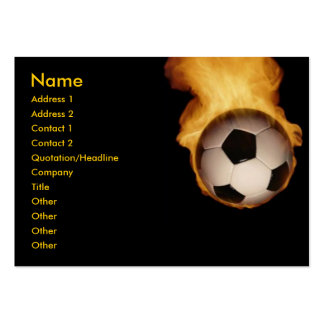 Soccer Ball On Fire Profile Card Business Cards
