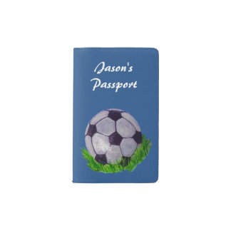 Soccer ball on grass pocket moleskine notebook