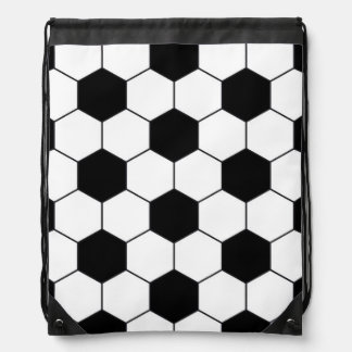 Soccer Ball Pattern Drawstring Bag